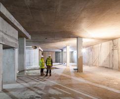 Below ground waterproofing, London