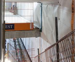 Intermediate slab, upper and lower basement levels