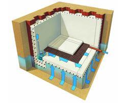 Basement floor waterproofing, Delta MS20