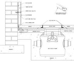 Basement wall and floor waterproofing schematic