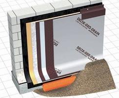 Delta Geo Drain Quattro external waterproofing membrane