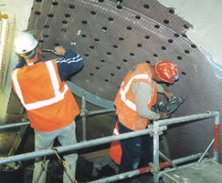 Installation of DELTA® PT-Lath meshed membrane