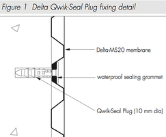 Delta Qwik Seal Plug fixing detail