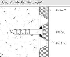 Delta Plug fixing detail