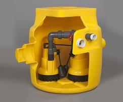 DELTA V3 dual sump drainage pumping station