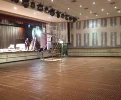 Damp-proofing flood-damaged hall and dance floor
