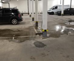 Water ponding in underground car park