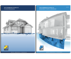 Delta Membrane Systems: New brochures on Flood Resilience and Basement Drainage