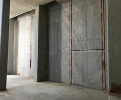 Structural waterproofing to mixed use development