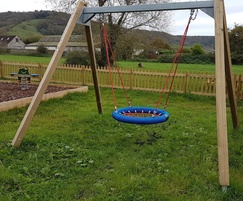Nest swing for country pub's play area