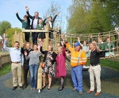 Bentley Play Park opened by Alan Titchmarsh
