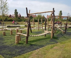 Timber play equipment for new park