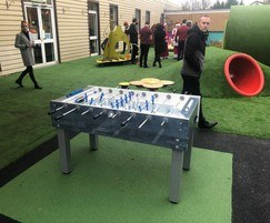 Outdoor football table and play tunnels