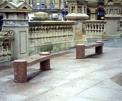Benches and paving, Paisley