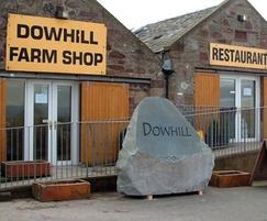 Dowhill natural stone boulder sign