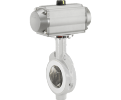 GEMÜ 491 butterfly valve with pneumatic actuator