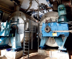 Sludge is concentrated in disc dryers