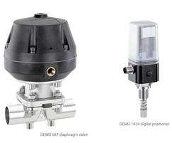 GEMU 687 diaphragm valve & GEMU 1434 digital positioner