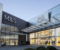 M & S store with sliding glass doors, Slimdrive SL NT