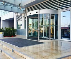 Automatic or manual revolving door system