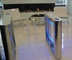 SW200 - turnstile with a sweeper system