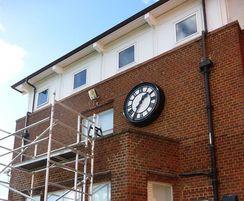 Black bezel clock for school