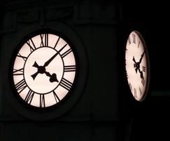 Backlight clock