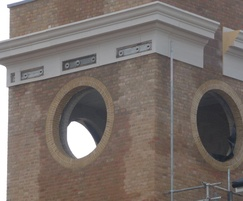 Apertures in tower for clock to be sited in to