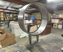 Stainless steel clock drum