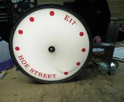Back-lit LED drum clock