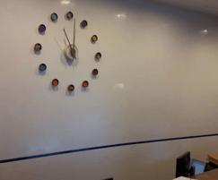 Bespoke coloured clock – The Circle reception area
