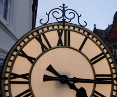 Replica exterior drum clock with LED illumination