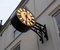 Replica outdoor drum clock with LED illumination