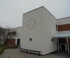 Installing contemporary school clock