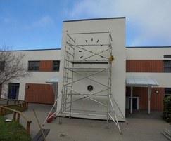 Installing clock on lightweight cladding