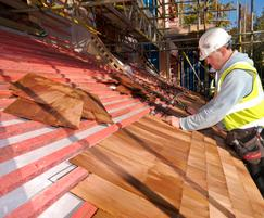 JB-RED BS 5534 roofing battens and cedar shingles