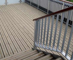 Anti-slip decking for balconies