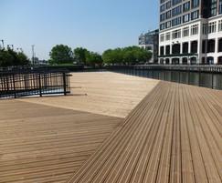 AntiSlip Plus® Classic decking, Canary Wharf