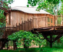 Treehouse anti slip decking