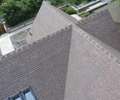 Canterbury handmade clay plain tiles in Loxleigh colour