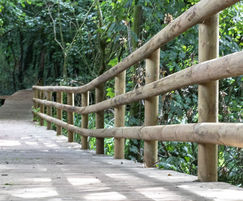 Anti-slip timber decking used for walkway