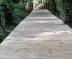 Non-slip timber decking
