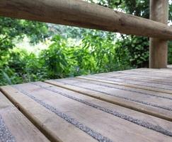 Anti-slip timber decking