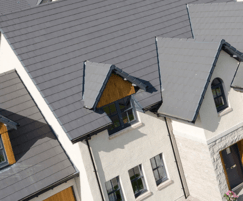 Smooth Grey interlocking roof slates