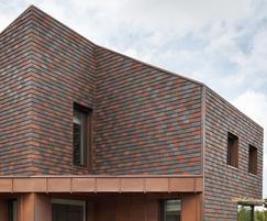Acme Single Camber Clay Plain tiles: zero carbon house