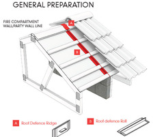 Roof Defense Intumescent Roof Fire Barrier preparation