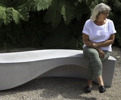 Concrete Wave Bench seats 5 people