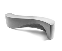 Wave Bench has three tactile surfaces