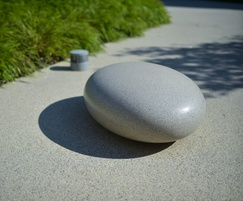 Barrell Sculpture: Barrell Sculpture Pebble Seats heading for Surrey Quays