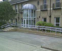 Kee Access® handrails help disabled users